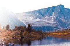 Beautiful mountain lake stock image
