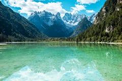 Beautiful mountain lake in Dolomites Stock Photography