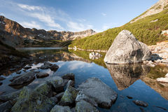 Beautiful mountain lake in High Tatras Royalty Free Stock Photos
