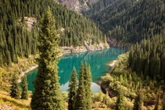 Beautiful mountain lake Stock Photos