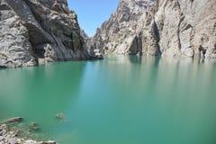 Beautiful mountain lake Karasuu. Mountains, lake, highland Royalty Free Stock Images