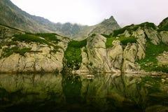 A beautiful mountain lake landscape. In Tatry, Slovakia royalty free stock photos