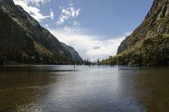 Beautiful Mountain Lake. A beautiful lake between mountains Royalty Free Stock Photography