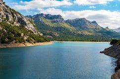 Beautiful mountain lake Panta de Gorg Blau, Mallorca, Spain Royalty Free Stock Photo