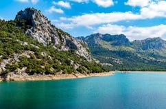 Beautiful mountain lake Panta de Gorg Blau, Mallorca, Spain Royalty Free Stock Image