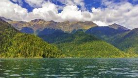 Beautiful mountain Lake Ritsa. royalty free stock photography