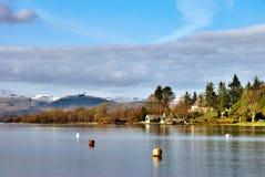Beautiful mountain lake scene Stock Photography