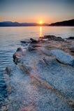 Beautiful Mountain Lake Shoreline Stock Photo