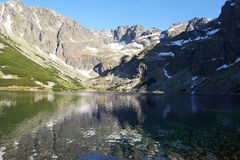 Beautiful mountain lake in Tatra Mountains, Poland Royalty Free Stock Images