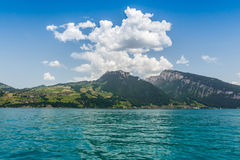Beautiful mountain, Lake Thun, Switzerland Stock Photo