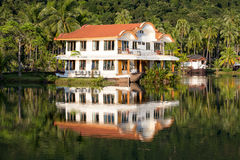 Beautiful mountain lake tropical resort Royalty Free Stock Photos