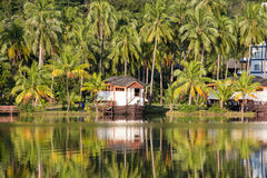Beautiful mountain lake tropical resort Stock Photography