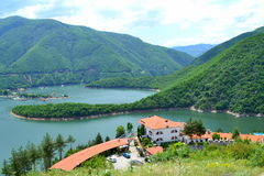 Beautiful mountain lake view Stock Photos