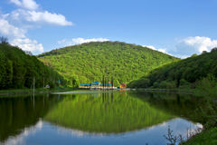 Beautiful mountain landscape. Spring. Travel across the western Ukraine Stock Photo