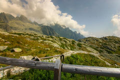 A beautiful mountain landscape above tree line. Tatry, Slovakia stock photos