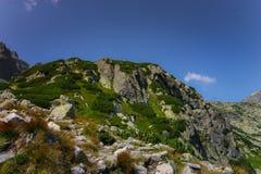 A beautiful mountain landscape above tree line. Tatry, Slovakia stock photo