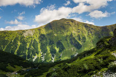 A beautiful mountain landscape above tree line. Tatry, Slovakia royalty free stock images