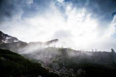 A beautiful mountain landscape above tree line. Tatry, Slovakia stock image