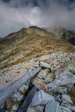 A beautiful mountain landscape above tree line. Tatry, Slovakia royalty free stock photography