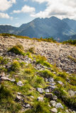 A beautiful mountain landscape above tree line. Tatry, Slovakia stock photography