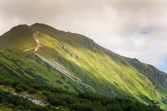 A beautiful mountain landscape above tree line. Tatry, Slovakia royalty free stock photos