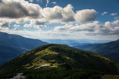 A beautiful mountain landscape above tree line. Tatry, Slovakia royalty free stock photo