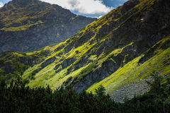 A beautiful mountain landscape above tree line. Tatry, Slovakia stock images