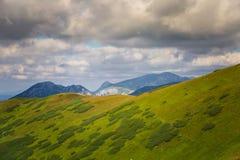 A beautiful mountain landscape above tree line. Tatry, Slovakia royalty free stock image