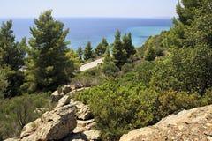 Beautiful mountain landscape of the Aegean sea. Stock Photography