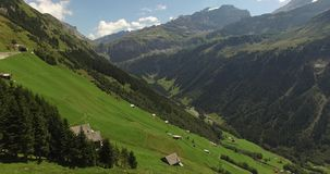 Beautiful mountain landscape, alpine road, Switzerland stock video footage