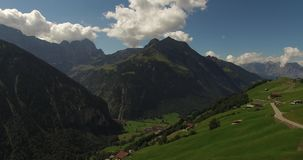 Beautiful mountain landscape, alpine road, Switzerland stock footage