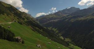 Beautiful mountain landscape, alpine road, Switzerland stock video