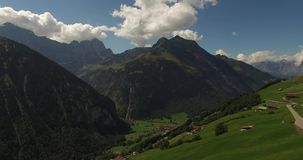 Beautiful mountain landscape, alpine road, Switzerland stock video