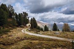 Beautiful mountain landscape. Austria. Beautiful mountain landscape as seen from the Nockalm road in the national park Nockberge, district Feldkirchen, Carinthia Royalty Free Stock Photos