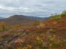 Beautiful mountain landscape in autumn stock photo