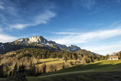 Beautiful mountain landscape in the Bavarian Alps Royalty Free Stock Photos