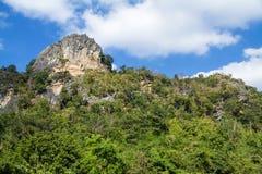 Beautiful mountain landscape in blue sky Stock Image