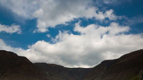 Beautiful Mountain Landscape with Clouds. View on Beautiful mountain Landscape with Clouds stock footage