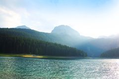 Beautiful mountain landscape. With colorful lake Royalty Free Stock Photos