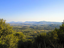 Beautiful mountain landscape  in Corfu Stock Images