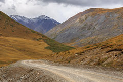 Beautiful mountain landscape with a country road Stock Photo