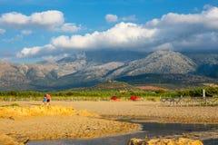 Beautiful mountain landscape of Cret, Greece. Beautiful mountain landscape of Crete near Malia, Greece Royalty Free Stock Photo