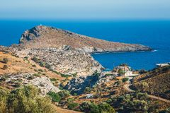 Beautiful mountain landscape of Crete Royalty Free Stock Photos