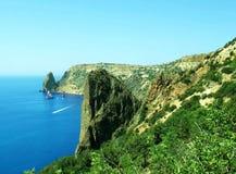 Beautiful landscape. Beautiful mountain landscape in Crimea Stock Photos