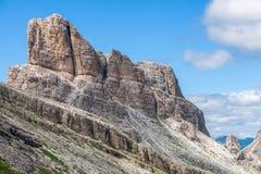 Beautiful mountain landscape - Dolomites, Italy. Averau (2649 m) - Dolomites, Italy Royalty Free Stock Images