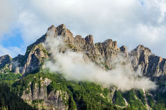Beautiful mountain landscape - Dolomites, Italy. View of the mountain peaks in the Dolomites Royalty Free Stock Images