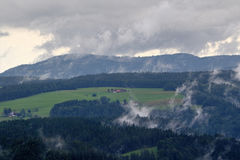 Beautiful mountain landscape at dusk in the Black Forest, Germany stock photography