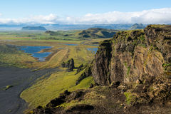 Beautiful mountain landscape, Dyrholaey, Iceland Royalty Free Stock Image