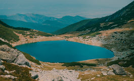 Beautiful mountain landscape Galesu lake in national Retezat Park Romania Royalty Free Stock Photo