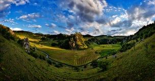 Beautiful mountain landscape. In Hunedoara, Romania Stock Images